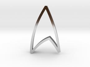 Star Trek Emblem - Cookie Cutter in Polished Silver