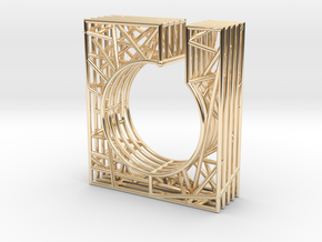 LOFF - wire cubic ring and pendant 1 in 14K Yellow Gold