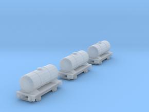 T-gauge 3 Tankers - Custom Wheels, see description in Smooth Fine Detail Plastic