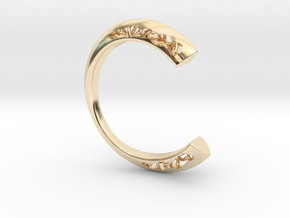 LOFF - C-wire ring in 14K Yellow Gold