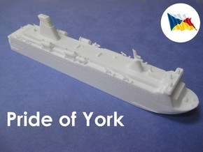 MS Pride of York (1:1200) in White Natural Versatile Plastic: 1:1200