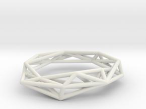 In Love Bracelet in White Natural Versatile Plastic