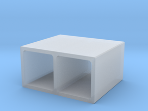 N/H0 Box Culvert Double Tube (size 1) in Smooth Fine Detail Plastic