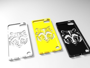 Ipod 5th G wolf case in White Strong & Flexible