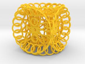 Dice134 in Yellow Processed Versatile Plastic