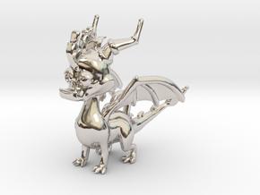 Spyro the Dragon Pendant/charm in Platinum