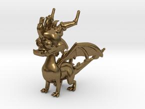 Spyro the Dragon Pendant/charm in Natural Bronze