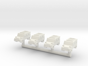 1/285 G-Wagon (4x4 Version) (x4) in White Natural Versatile Plastic