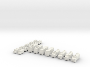 1/285 Airbase Vehicles in White Natural Versatile Plastic