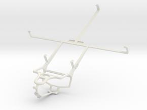 Controller mount for PS4 & Prestigio MultiPad Note in White Natural Versatile Plastic