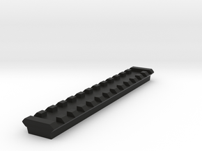 13 Slots Picatinny Rail With Center Slot in Black Natural Versatile Plastic