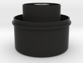RainFilter Cover (part 1 of 2) in Black Natural Versatile Plastic