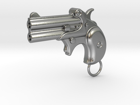 Derringer Gun in Natural Silver