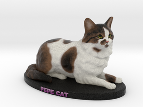 Custom Cat Figurine - Pepe Cat in Full Color Sandstone
