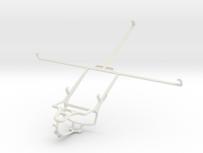 Controller mount for PS4 & Vodafone Smart Tab III  in White Natural Versatile Plastic
