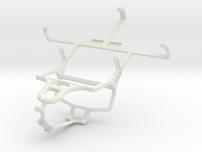 Controller mount for PS4 & Yezz Andy 3G 4.0 YZ1120 in White Natural Versatile Plastic