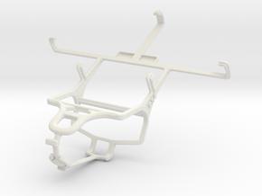 Controller mount for PS4 & ZTE Grand X Quad V987 in White Natural Versatile Plastic
