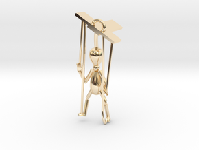 Puppet pendant top in 14K Yellow Gold
