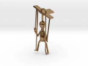 Puppet pendant top in Natural Brass