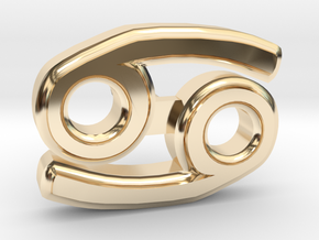 Cancer Ear Ring in 14K Yellow Gold