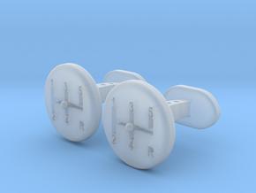 Gear Lever cufflinks in Smooth Fine Detail Plastic