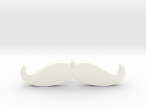 Mustache Gold Pendant (2.2 cm - 0.9 in) in White Processed Versatile Plastic