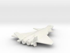 Chengdu J20 1 285 Scale TOM 18aJan2015 in White Natural Versatile Plastic