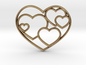 Heart Necklace Sm in Polished Gold Steel