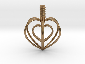 Heart Top in Natural Brass