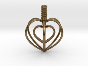 Heart Top in Natural Bronze