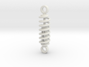 working spring shock absorber  V1 60%  in White Natural Versatile Plastic