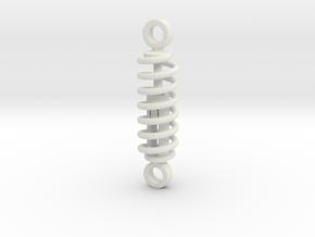 working spring shock absorber  V1 60%  in White Natural Versatile Plastic