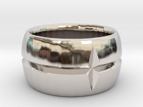 Cross Cut Ring size 7 in Platinum