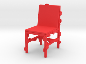 BLOSSOMING CHAIR - RJW ELSINGA 1:10 in Red Strong & Flexible Polished