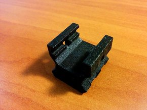 Nerf to Picatinny Adapter (2 Slots) in Black Natural Versatile Plastic