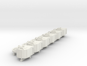 1:18 scale 20mm Cannon Magazine Spares in White Strong & Flexible