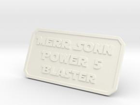 Merr Sonn Power 5 Plate in White Processed Versatile Plastic