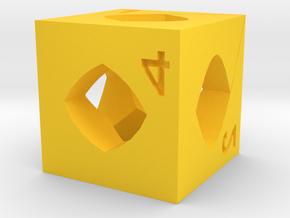 Dice140 in Yellow Processed Versatile Plastic