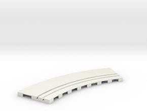 P-65stp-curve-tram-road-inner-145r-100-pl-1a in White Natural Versatile Plastic