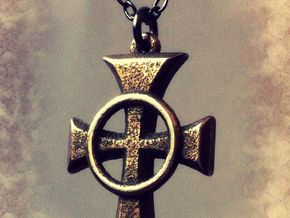 "Boondock Saints - Celtic Cross pendant - 1"" in Polished Bronzed Silver Steel"