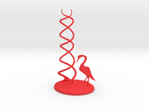CheekyChi - Chopstick Holder (crane) small in Red Processed Versatile Plastic