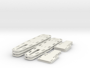 1/24 scale Spine Board Set Sm(5 ea full and half) in White Natural Versatile Plastic