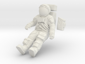 1:12 Apollo Astronaut /LRV(Lunar Roving Vehicle) in White Natural Versatile Plastic