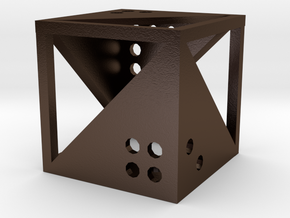 Dice20 in Polished Bronze Steel