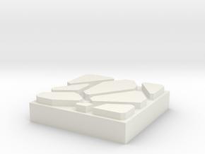 Dungeon Brix Floor 1x1 in White Natural Versatile Plastic