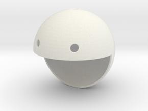 Pac Man Pendant in White Natural Versatile Plastic