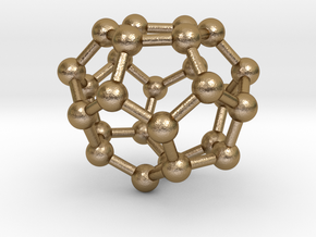 0003 Fullerene c26 d3h in Polished Gold Steel