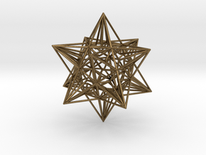 Great Icosahedron in Natural Bronze