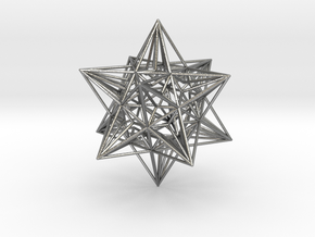 Great Icosahedron in Natural Silver