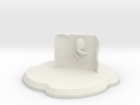 Cloakett in White Natural Versatile Plastic